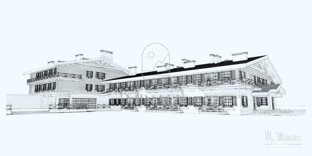 Проектирование загородной базы отдыха и банного комплекса. МО, 2015 год.