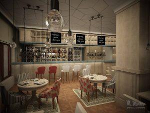 Дизайн проект семейного ресторана. Москва, 2016 год.