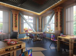 Кафе-Пельменная «Самовар», Проект «Под ключ». Москва 2016 год.